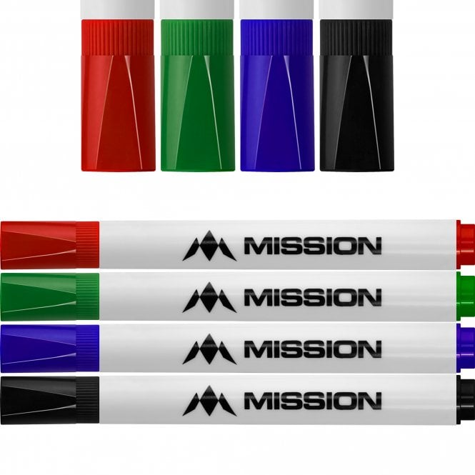 Mission  - Marker Pens - Dry Wipe - Pack 4 - Colours