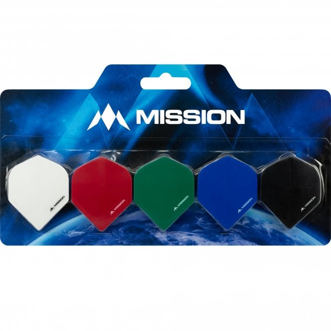 Mission  Logo Dart Flight Collection - 5 Sets Flights - Mixed Colours