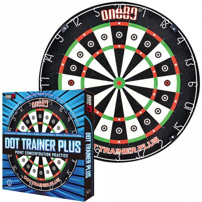 One80  Dartboard - Patented - Training Aid - Dot Trainer Plus