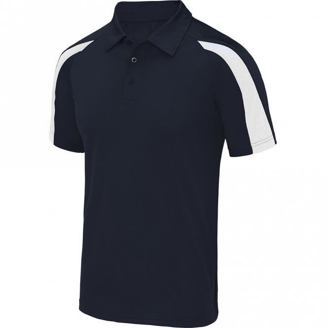 Designa Dart Shirts - Polo Shirt - Just Cool Contrast - Navy with White