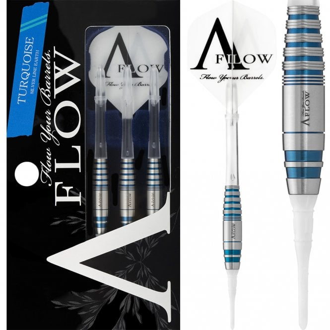 Dynasty  Darts - Silver Line Earth - Soft Tip - Turquoise