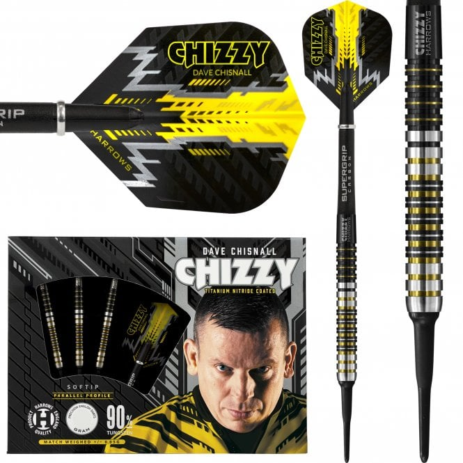 Harrows  Dave Chisnall Darts - Soft Tip - Chizzy - S3 - 22g