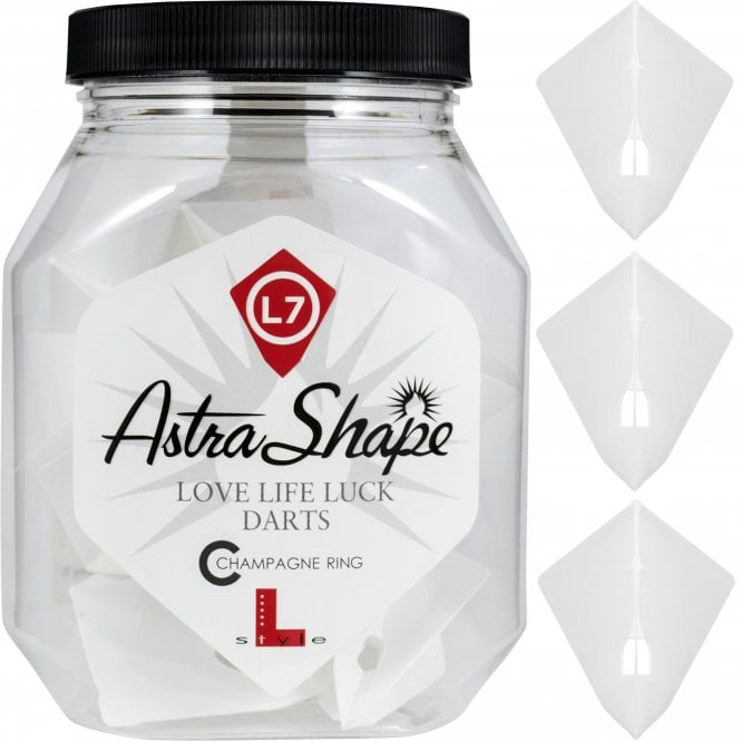 L-Style  - L-Flights - Champagne Ring - Astra - White - 5 Sets