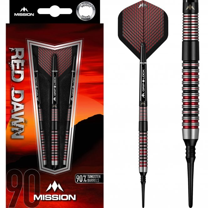 Mission  Red Dawn Darts - Soft Tip - M1 - Straight Ring