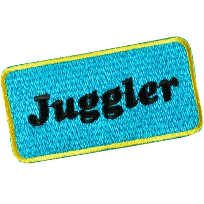 Cosmo Darts  - Juggler Logo - Embroidered Badge - Sew On Patch