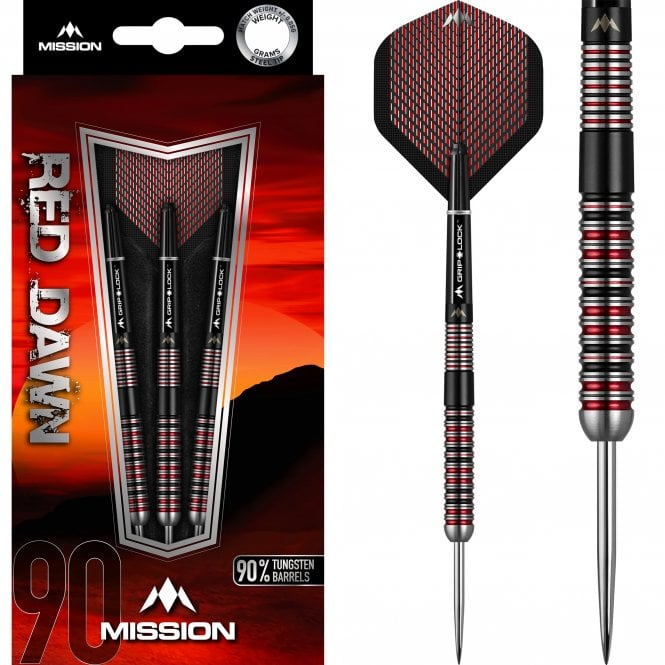 Mission  Red Dawn Darts - Steel Tip - M1 - Straight Ring