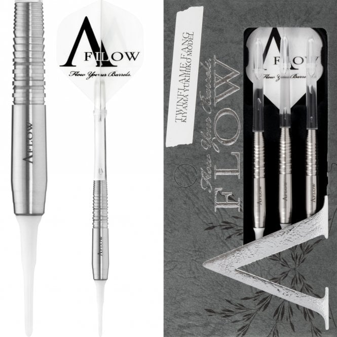 Dynasty  Darts - Black Line - Soft Tip - Twin Flame Fang