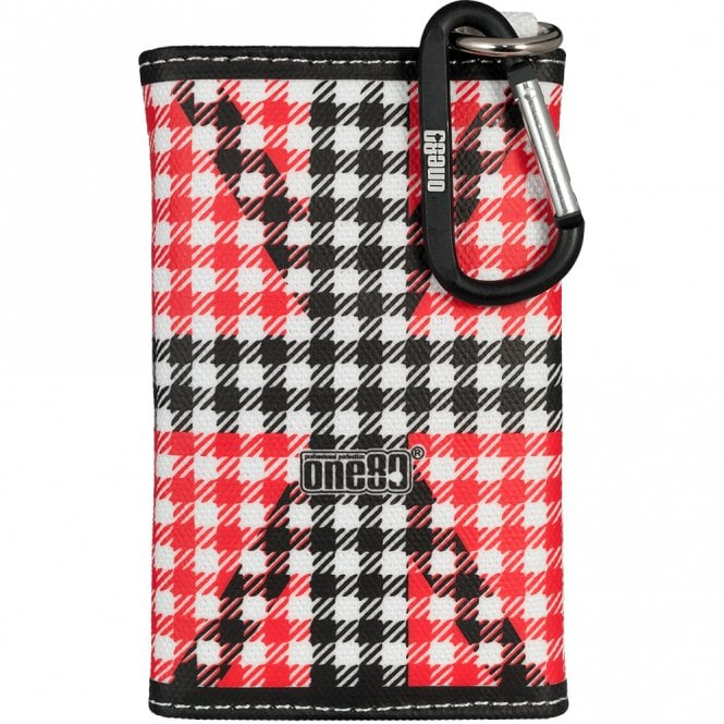 One80  Dart Case - Union Jack Dart Wrap Canvas Wallet - Black and Red
