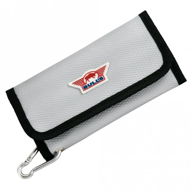 Bulls  Trifold Deluxe XL Wallet - Dart Case with Button Close - Silver