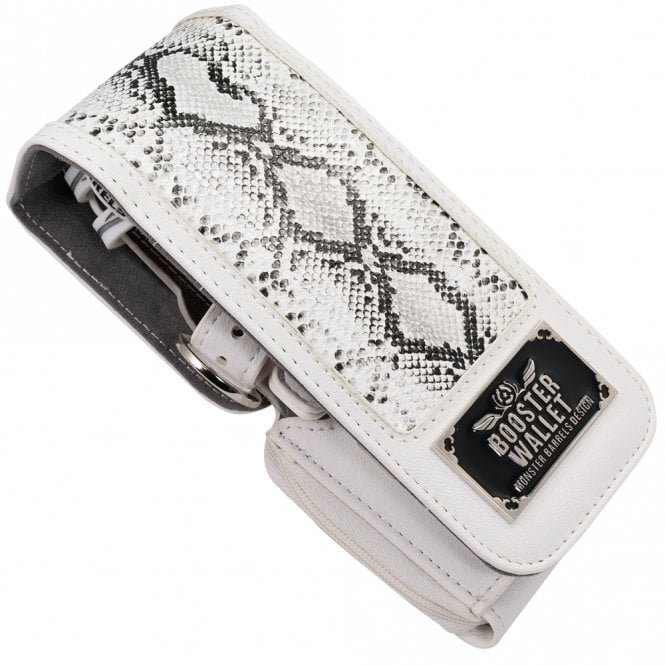 Monster * Booster Wallet - use with Krystal One Case - Python White