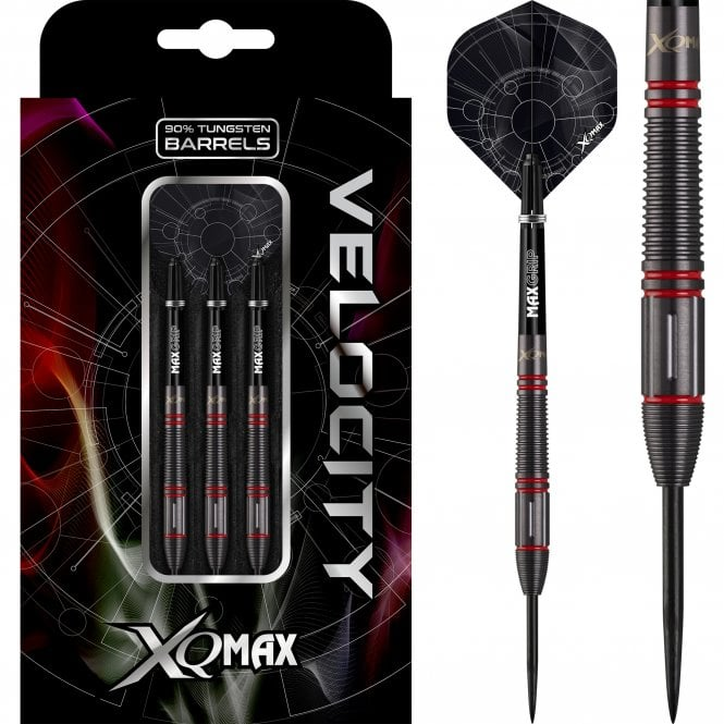 XQMax  Velocity Darts - Steel Tip - M2 - Black with Red