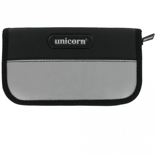 Unicorn  Maxi Wallet - Large Dart Case - Black with Silver