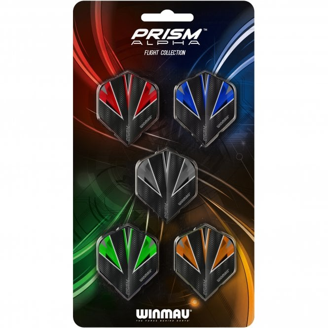 Winmau * Prism Alpha Flight Collection - 5 Sets - Mixed Shapes
