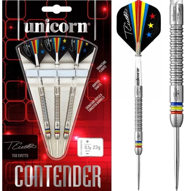 Unicorn  Contender Darts - Steel Tip - Ted Evetts