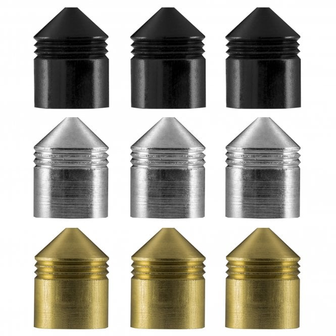 One80  Vice Lock System - Shaft Caps - Silver - Pack 6