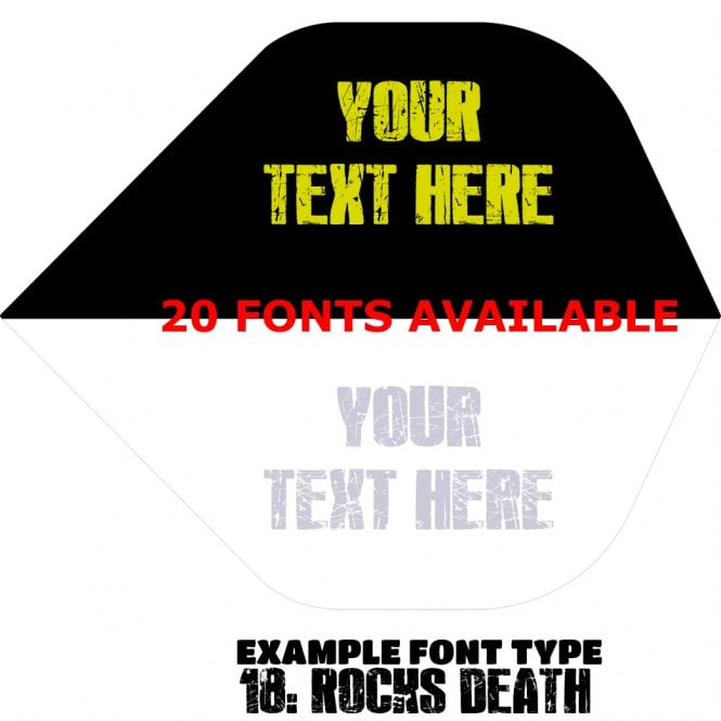 Designa Personalised Flights - Extra Strong - 5 Sets - Two Tone Black & White