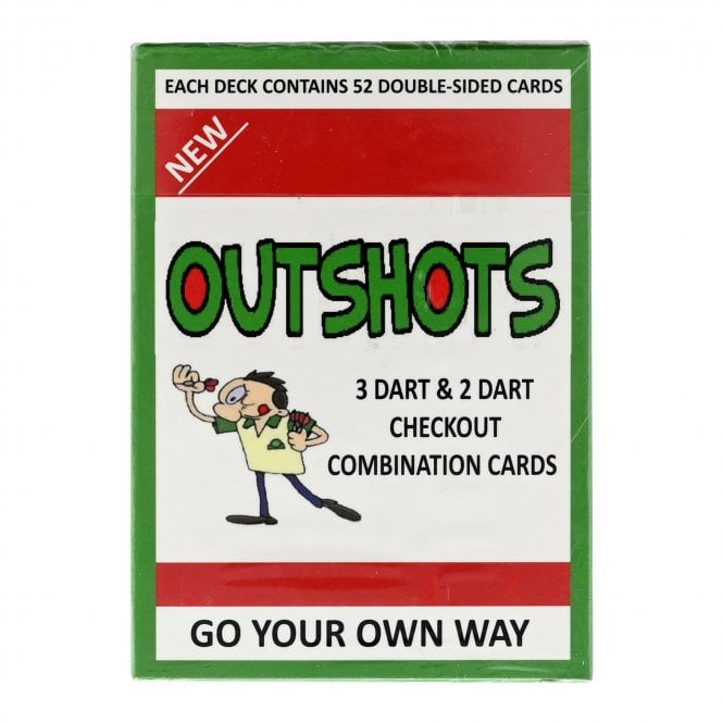 Performance Darts Training Aid - Outshots - 3 Dart and 2 Dart Combination Finishes