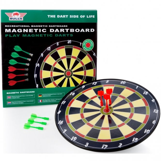 Bulls  - Magnetic Dartboard - Hard Surface with 6 Free Magnetic Darts