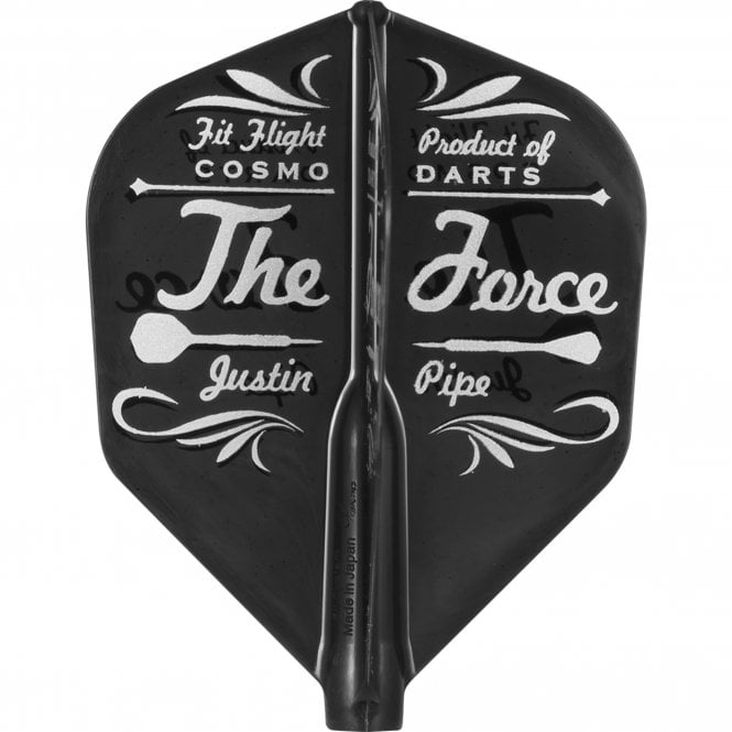 Cosmo Darts Cosmo Fit Flight - Player - Shape D Black - Justin Pipe