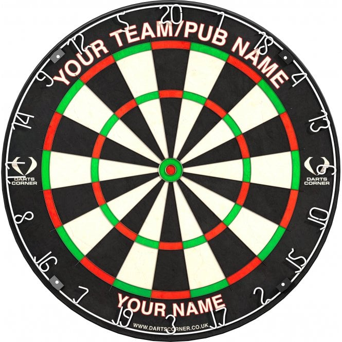 Darts Corner  Personalised Dartboard - Perfect For Pubs, Clubs And Man Caves