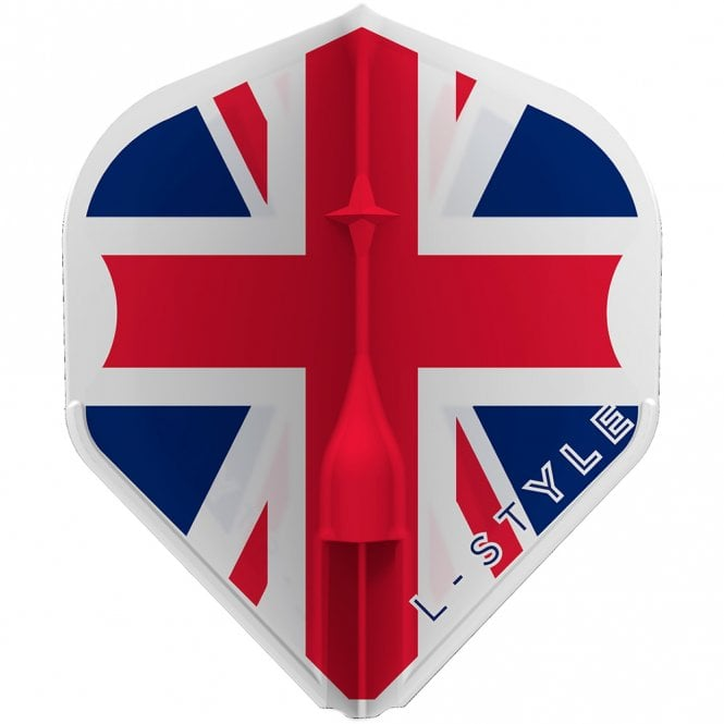 L-Style  - EZ L-Flights - Integrated Champagne Ring - L1 - Union Jack - Clear White