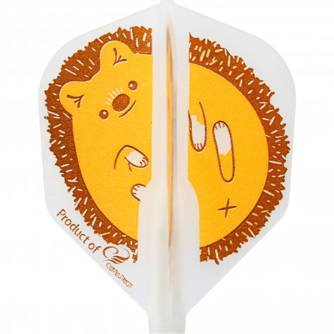 Cosmo Darts Cosmo Fit Flight - Shape - Clear White - Hedgehog