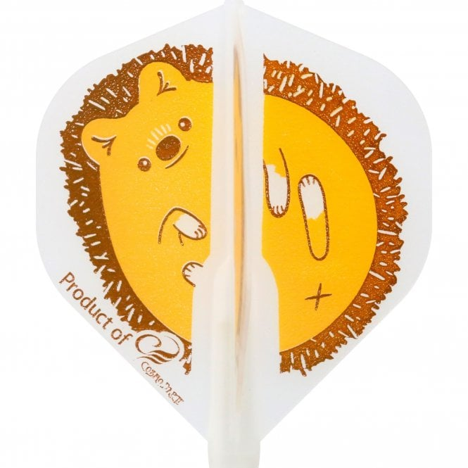 Cosmo Darts Cosmo Fit Flight - Standard - Clear White - Hedgehog