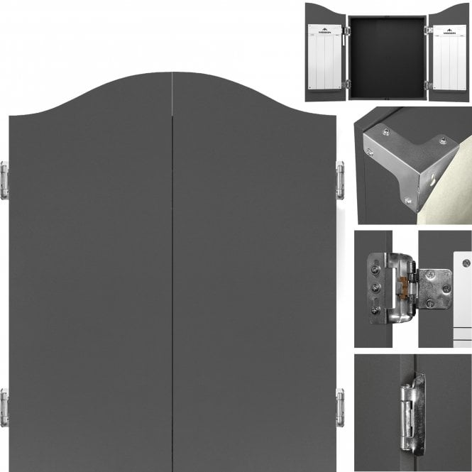 Mission  Dartboard Cabinet - Deluxe Quality - Plain Grey